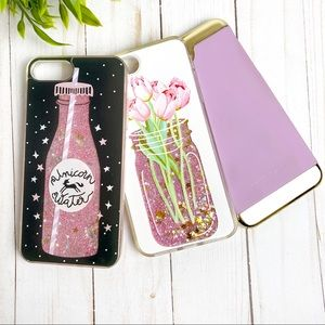 Bundle iPhone 8 Plus Glitter Unicorn Lavender W335